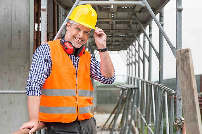 business man on construction site